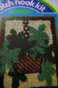 Yarn Kits Inc Latch Hook Rug Kit Ferns In a Basket 18 X 24