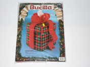 Bucilla Christmas Present Tissue Box Cover Canvas Needlepoint Plastic Canvas 20cm High
