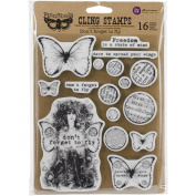 Finnabair Cling Stamps 15cm x 19cm -Don't Forget To Fly