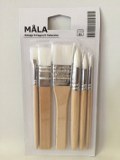 Ikea Mala Kids Paint Brush Set of 6 Water Colour Brushes in Synthetic Fibre