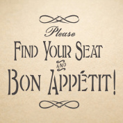J BOUTIQUE STENCILS Bon Appetit Stencil for Painting Signs Crafting DIY Wall decor - Artistic stencil