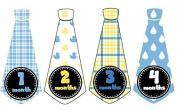 Monthly Onesie Tie Stickers Boy Neck Ties Necktie UNCUT Rubber Ducky