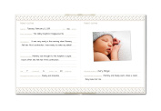 Pearhead Classic Baby Book, Ivory