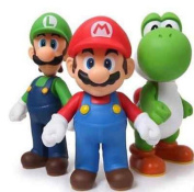 New 3pcs Nintendo Super Mario Bros Luigi Mario Action Figures Toys Gift