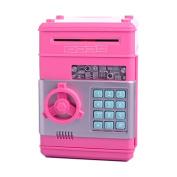 Ainypiggy-bank Code Electronic Money Bank Piggy Money Banks Coin Saving Banks ATM Safty Banks,pink