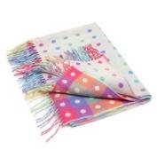 Baby Multi Spot Pure New Wool Blanket by Irish Foxford Woollen Mills