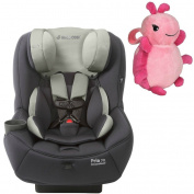 Maxi-Cosi Pria 70 Convertible Car Seat with Easy Clean Fabric and Pink Lullaby To Go Travel Plush, Mineral Grey
