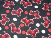 Scottie Dogs Hand Tied Fleece Baby Pet Lap Blanket 80cm x 60cm Made by Scrunchies by Sherry