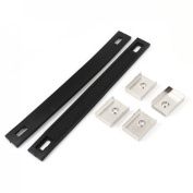 Household Cupboard Door Rubber Pull Handle Black 2pcs