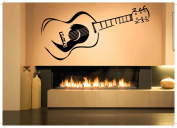 Wall Room Decor Art Vinyl Sticker Mural Decal Acoustic Guitar Rock Large AS2058