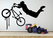 Wall Room Decor Art Vinyl Sticker Mural Decal Bmx Bike Ride Jump Trick AS2038