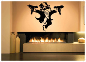 Wall Room Decor Art Vinyl Sticker Mural Decal Uzi Monopoly Game Guy Character AS2024