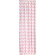 Little Bedding by NoJo Chevron Window Panel, Pink