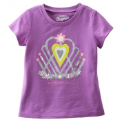 "Oshkosh Girls S/s ""Pretty Princess"" Tee; 6m; Purple"
