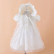 White Baby Christening Dress with Virgin Mary Embroidery