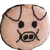 E.a@market DIY Pink Pig Change Purse Pure Manual Beaded Coin Purse
