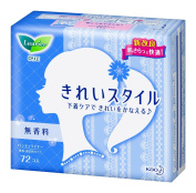 Japanese Women Sanitary Napkin Laurier beautiful style fragrance-free 72 co input