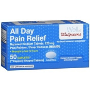 Walgreens All Day Pain Relief Caplets, 50 Each