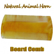 The Wolf Moon® Beard - Moustache Horn Comb - Double Sided Handmade Natural Sheep Horn Anti-static, beard - moustache Comb, 8.9cm Comb for man