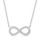 SPOIL CUPID .925 Sterling Silver Infinity CZ Necklace