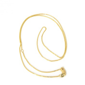 "14k Yellow Gold 0.8 mm Classic Box 16""-18"" Extendable Chain Necklace"