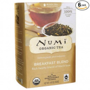 Numi Breakfast Blend Black Tea, Organic, 18 Count
