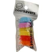 Save Brands Beer Savers Silicone Rubber Bottle Cap (6 Pack), Multicolor