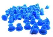 "DCTattoo 1000 X Bulk Buy Blue ""No Holder Flat Base"" Tattoo Ink Caps -"