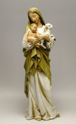 15cm Stone Resin Virgin Mary Madonna Lamb Figure Statue Home