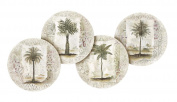 Thirstystone Stoneware Coaster Set, Ferns and Palms A/4