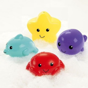 Fisher Price Tubtime Squirters ~ Set of 4 - Crab, Starfish, Whale & Dolphin