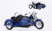 Harley Davidson FL Hydra Glide, blue, 1952, Model Car, Ready-made, Maisto 1:18