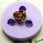 Camelia 3 flower reusable resin crafts and jewellery silicone mould