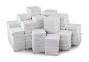 White Jewellery Gift Boxes Cotton Filled #33