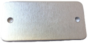 RMP Stamping Blanks, .2200cm X 3.8cm Rectangle with Rounded Corners, Aluminium .160cm (14 Ga.) w/ 2 holes -50 Pack
