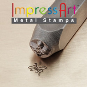 ImpressArt, Metal Jewellery Design Stamp, Butterfly Swirl, 6mm