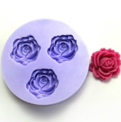 Blooming Rose Resin Clay of Flower Moulds Handmade Resin Mould Polymer Clay Mould