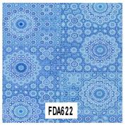 Decopatch Paper Ref 622 - Circle Dot Pattern (Blue Turquoise) Single Sheet
