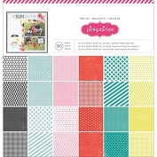 American Crafts Paper Pad, 30cm by 30cm , Best of Pink Paislee, 180-Pack