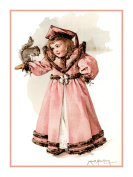 Little Miss Girl with Squirrel by Maud Humphrey BogartCounted Cross Stitch Chart