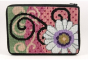 Cosmetic Purse - Daisy Swirl - Needlepoint Kit