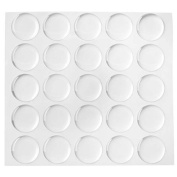 Klove Us 200-piece Epoxy Stickers for Bottle Cap Pendants, 2.5cm , Clear