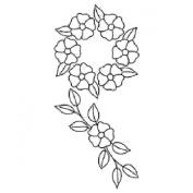 18cm Apple Blossom Border Quilting Stencil by QCI - PC1045