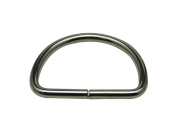 Generic Metal Silvery Big Size D Ring Buckle D-Rings 5.1cm Inside Diameter Lage Size for Backpack Bag Pack of 10