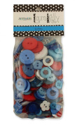 Buttons Galore LK151 Hand Dyed Buttons, 160ml, Patriotic Mix