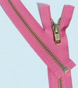 60cm Medium Weight Jacket Zipper YKK #5 Brass ~ Separating ~ 516 Hot Pink