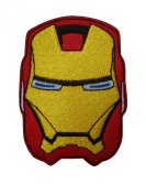 Superhero Iron On Patch (Lot of 2 pieces) Embroidered Applique Motif Fabric Comics Movie Decal 3.2 x 2.3 inches