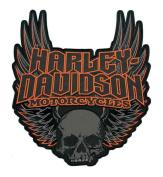 Harley-Davidson Gothic Winged Skull Embroidered Emblem, 3XL Size EM108307