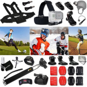 Xtech® GOPRO Hero HOCKEY ACCESSORIES Kit for GoPro Hero 4 3+ 3 2 1 Hero4 Hero3 Hero2, Hero 4 Silver, Hero 4 Black, Hero 3+ Hero3+ Hero 3 Silver, Hero 3 Black and for basketball, Soccer, Football, Golf, Golfing, Tennis, Baseball, Volleyball, Beac ..