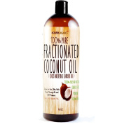 Fractionated Coconut Oil - Molivera Organics 470ml Premium, Grade A, 100% Pure MCT Coconut Oil for Hair, Skin, Scalp, Massage and Aromatherapy Carrier Oils - Perfect for DIY Hair and Skin Products - Therapeutic Grade - UV Resistant BPA free bottle - 1 ..